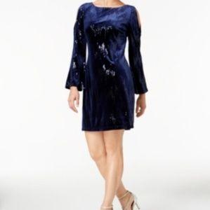 🆕️ Jessica Howard sequin cold-shoulder dress